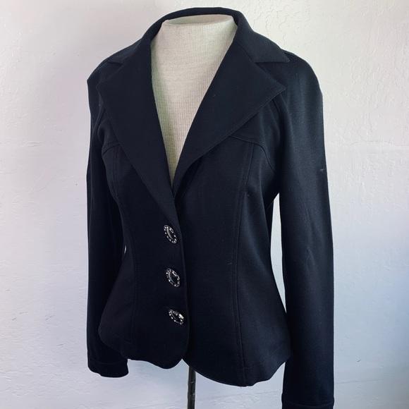 Alberto Makali Jackets & Blazers - Alberto Makali Black Fitted Jacket